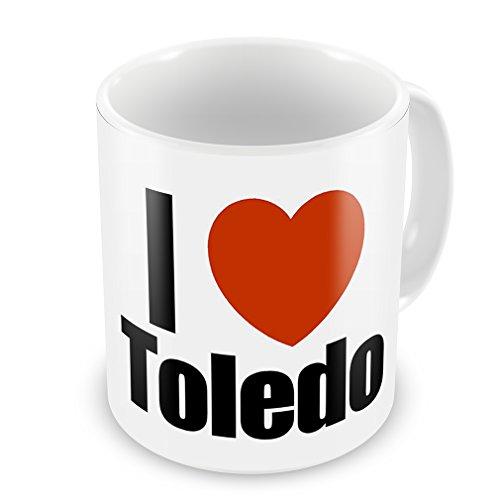 Coffee Mug I Love Toledo Region: Ohio, United States - Neonblond