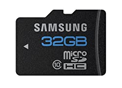 Samsung 32GB High Speed microSDHC Class 10 Memory Card with Adapter. Model number: MB-MSBGA/US