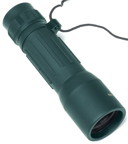 10x32 Monocular Green Rubber Covered