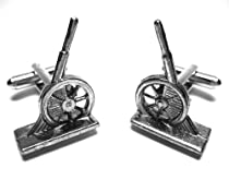Monopoly Cannon Game Piece Token Cufflinks w/Gift Box