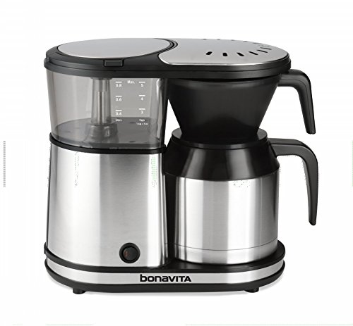 Bonavita BV1500TS 5-Cup Carafe Coffee Brewer, Stainless Steel (Thermal 4 Cup Coffee Maker compare prices)