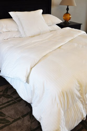 New Natural Comfort Soft and Luxurious 300TC Sateen White Down Alternative Duvet Insert, Queen