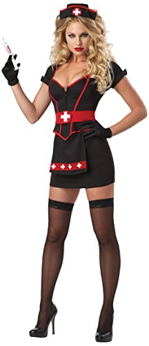 Hisionlee Sexy Black Nurse Uniform Heart Breaker Costume Naughty Lingerie Costume Set