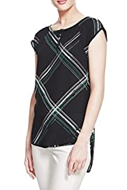 Large Checked Blouse [T50-2769-S]