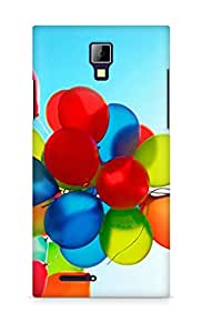 Amez designer printed 3d premium high quality back case cover for Micromax Canvas Express A99 (Balloons)