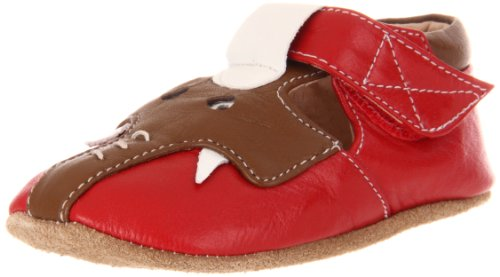 Livie & Luca Baby Elephant T-Strap (Infant/Toddler),Red/Brown,6-12 Months (3 M Us Infant) front-324123