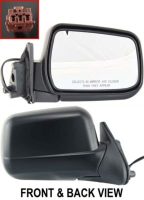 Fit System RH057 Driver//Passenger Side Replacement Universal Head Mirror