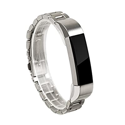 For Fitbit Alta Band, Wearlizer Smart Watch Metal Wristband Replacement Strap for Fitbit Alta