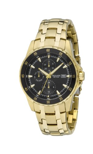 Accurist Men's Gold Tone Multidial Watch MB937B