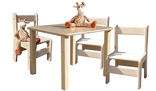 Kindersitzgruppe – Kindermöbel – 1 Tisch und 3 Stühle – Direkt vom Hersteller