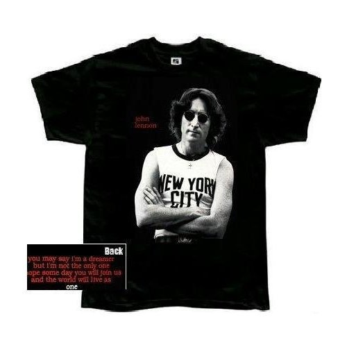 John Lennon 'New York City Photo' 2-sided black t-shirt (2X)
