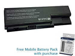 Acer Aspire 5920 Battery 49Wh, 4400mAh with free Mobile Battery Pack