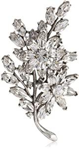 Ben-Amun Jewelry Crystal Floral Motif Brooch