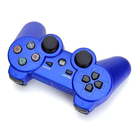 Jazzy Free Shipping Bluetooth Wireless Game Controller for Sony PS3 - Blue Wireless Game Controller with Bluetooth