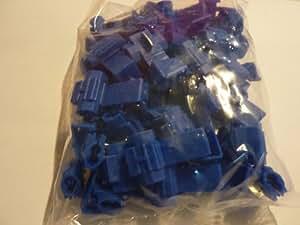 50 Stück Quickverbinder / Stromdieb / Schnellverbinder blau für Kabel 1,5mm² - 2,5 mm ²