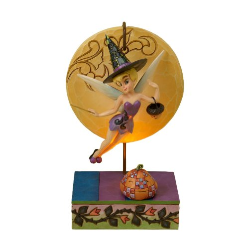 Disney Traditions Designed By Jim Shore For Enesco Tinker Bell Witch Figurine 7.25 In front-937677