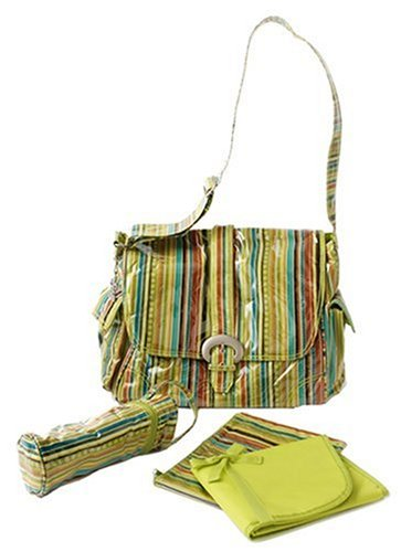 Kalencom Laminated Buckle Bag Pretty Stripe Pistachio