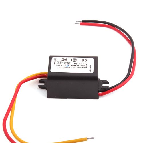 Generic Car Dc Converter Buck Step Down Module 12V Convert To 3V 3A Power Adapter Black