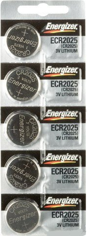 Replacement Batteries Energizer CR2025 for Cayeye, Sigma, Knog, Planet Bike & Mnay Others.