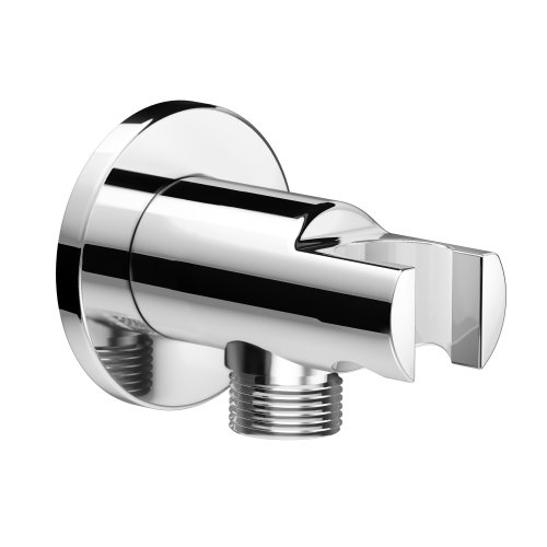 Wall Connector and Hand Held Shower Head Bracket - Roun