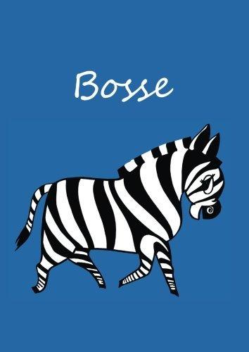 Bosse: individualisiertes Malbuch / Notizbuch / Tagebuch - Zebra - A4 - blanko