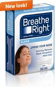 Breathe Right Nasal Strips Large Clear 30 count