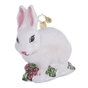 Amazon.com - RADKO SNOWBALL White Bunny Rabbit Christmas ...