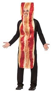 Rasta Imposta Bacon Strip Costume, Brown, One Size
