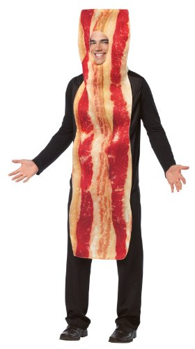 Rasta Imposta Bacon Strip Costume, Brown, One Size