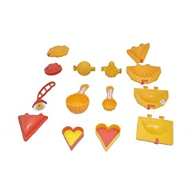 DS 14 Pcs Mould Combo Kachori, Samosa, Cutlet, Karanji, Ladoo, Prasad Scoop, Cutter, Modak