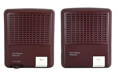 USB電源&乾電池で使えるインターホン コード20m ブラウン 音声モニター機能付き