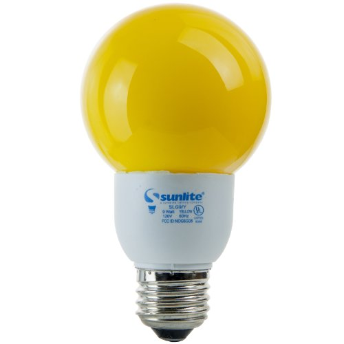 Sunlite Slg9/G21/Y G21 Globe 9 Watt Energy Saving Cfl Light Bulb Medium Base Yellow