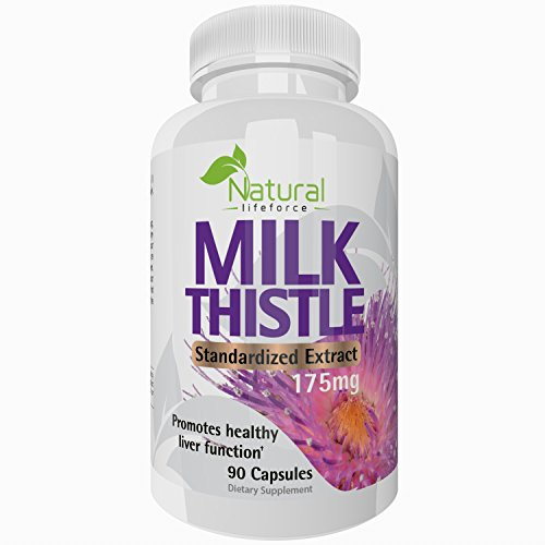 Pure Milk Thistle Extract 80% Silymarin Liver Cleanser Detoxifier - Improves Liver Function - 90 Capsules - 100% Satisfaction Guarantee
