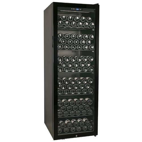 Edgestar 173 Bottle Glass Door Wine Cabinet - Black