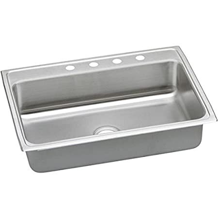 Elkay PSRQ31223 3-Hole Gourmet Pacemaker 31-Inch x 22-Inch Single Basin Top-Mount Stainless Steel Kitchen Sink