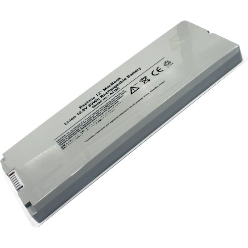 """(10.8V, 5200mAh/59Wh, Li-Polymer) New Replacement Laptop Battery for Apple MacBook 13-inch,MacBook 13.3"""" (A1181, A1185)"""