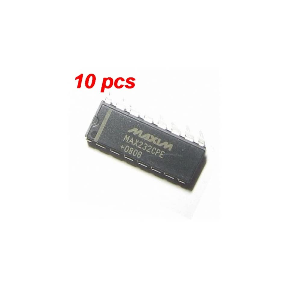 10PCS MAX232CPE MAX232 DIP16 RS232 DRIVER RECEIVER TTL IC on