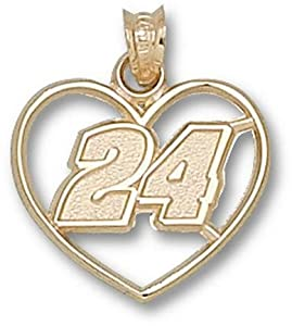 Logoart Jeff Gordon 10K Heart Pendant by Logo Art