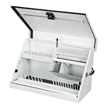 Montezuma ME300W 30-Inch by 15-Inch Steel Portable Toolbox, White