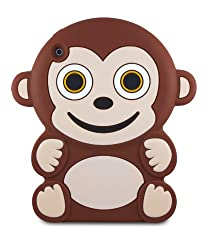 iConnect Kid Covers: Silicone Animal Case for iPad - Monkey