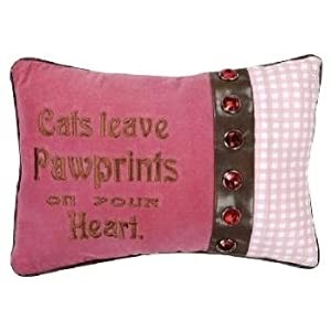 Cats Leave Pawprints on Your Heart Decorative Pillow