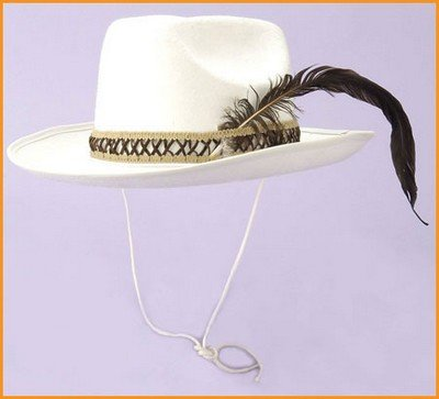 Costume Hats Deluxe Off White Felt Cowboy Hats