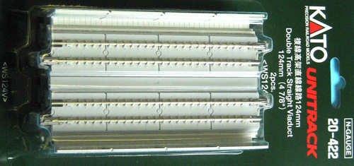 Kato 20-422 Pre-Cast Concrete Double Elevated Track 124Mm Straight (2)