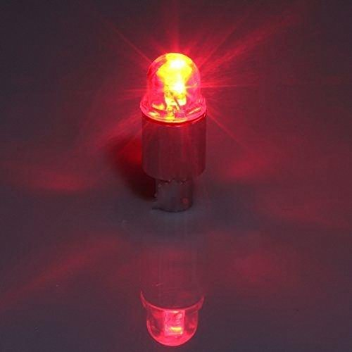 2X Led Wheel Stem Valve Cap Tyre Tire Light Bicycle Red