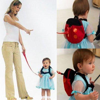 New Kid Keeper Safety Harness Baby Ladybug Backpack Bag