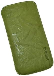 Suncase Original Echt Ledertasche mit Rückzugfunktion für Samsung Galaxy S4 i9505 wash-grün