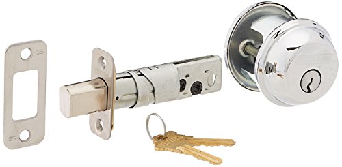 Schlage B60N625 Deadbolt, Keyed 1 Side, Bright Chrome