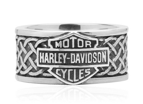 Harley-Davidson .925 Silver B&S Celtic Band Ring (7)