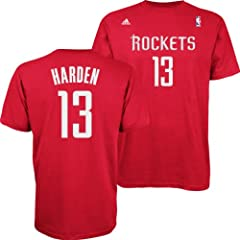 Houston Rockets Adidas NBA James Harden #13 Name & Number T-Shirt XL by adidas