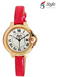 Style Feathers Designer Round Analogue White Dial Women's Watch - SDCTRDP001